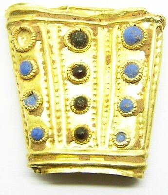 Very Rare Royal Scythian Jewelled Gold Scabbard Chape c. 5th century B.C. Amazon