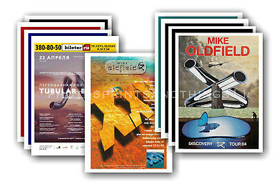 MIKE OLDFIELD - 10 promotional posters  collectable postcard set # 1
