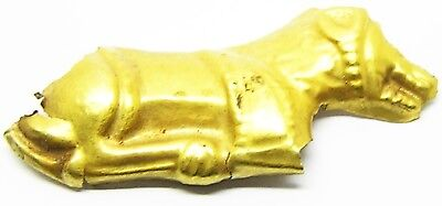 Rare Excavated Gold Scythian Gold Appliqué of a Crouching Lion c. 5th century BC