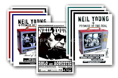 NEIL YOUNG - 10 promotional posters  collectable postcard set # 2