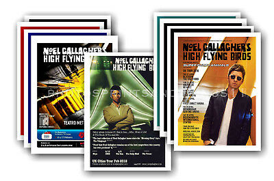 NOEL GALLAGHER - 10 promotional posters  collectable postcard set # 1