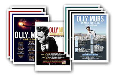 OLLY MURS - 10 promotional posters  collectable postcard set # 1