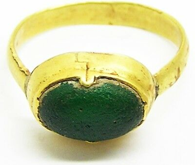 Lovely Ancient Medieval Gold Finger Ring c. 13th - 15th century A.D. Excavated