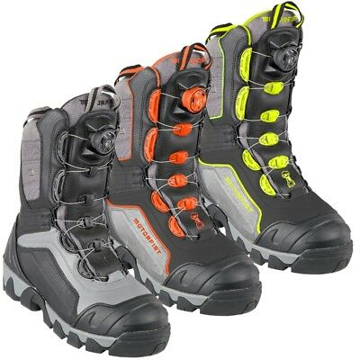 Motorfist Mens Alpha Boot Dual Boa System 800g Insulation Black Orange Hi-Vis