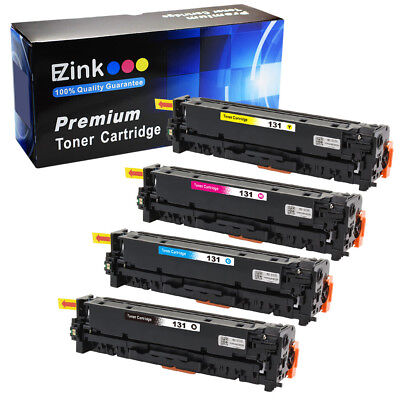 4 Pack 131 B C M Y Toner Cartridges for Canon ImageClass MF624Cw Printer & More