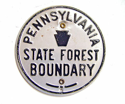 Original Usda Pennsylvania State Forest Boundary Raised Letter Advertising Sign