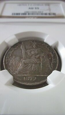 French Cochin China 20 Cents 1879A NGC AU 55