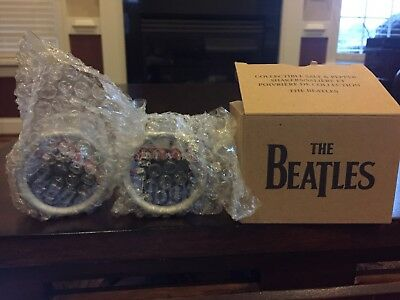 The Beatles Salt and Pepper Shakers 2006 Mint John Lennon Paul McCartney Drums