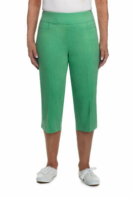 5e563c12c96 ALFRED DUNNER WOMAN Plus Size 100% Cotton Capri Pants Cantaloupe 24W ...