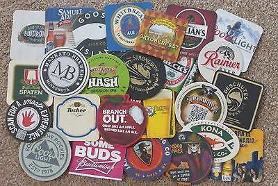 Lot of 50 Beer Coasters from Various Breweries 2 each of 25 different - All New