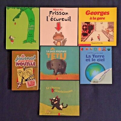 Lot of 4 Children's Books in French Language
