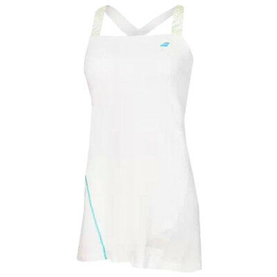 Babolat Performance Girls Kids Junior Sleeveless Tennis Dress - White
