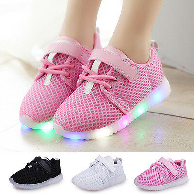 LED Baby Boys Girls' Shoes kids Light Up Luminous Child Trainers Sport Sneakers