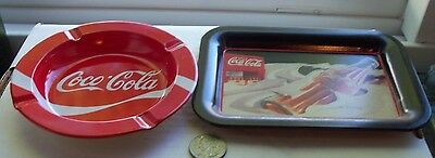 Two Coca Cola Metal Trays