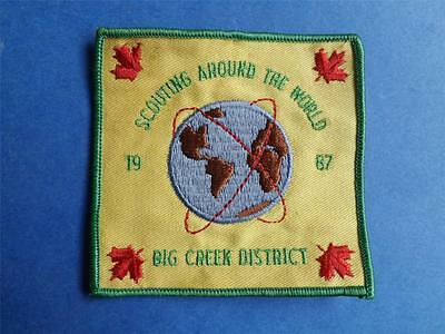 Boy Scouts Canada Big Creek District 1987 Scouting Around The World Badge Patch