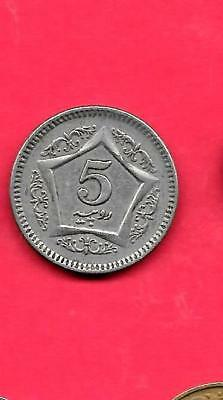 Pakistan Km65 2004 Vf-Very Fine-Nice Large 5 Rupees Circulated Coin