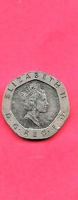 Great Britian Gb Uk Km939 1990 Unc-Uncirculated Mint 20 Pence Coin