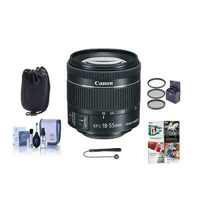 Canon EF-S 18-55mm f/4-5.6 IS STM Lens With Free Accessory Bundle #1620C002 A