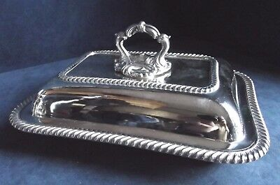 "SUPERB 12"" Ornate ~ SILVER Plated ~ SERVING DISH ~ c1900"