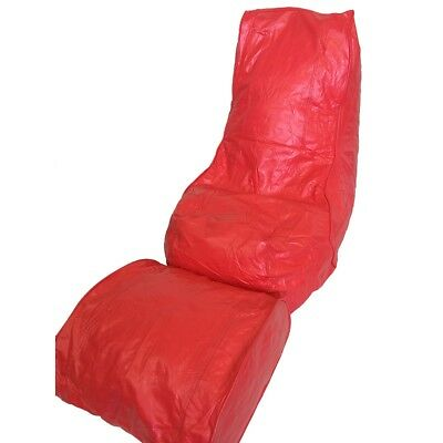 Boscoman - Vinyl Bean Bag Lounger w/Footrest - Red