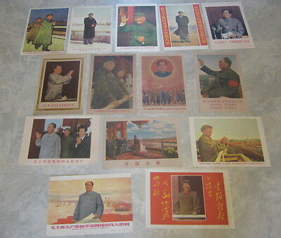 Lot of 14 Original Old 1960's Vintage - CHINESE Propaganda POSTERS - MAO - CHINA
