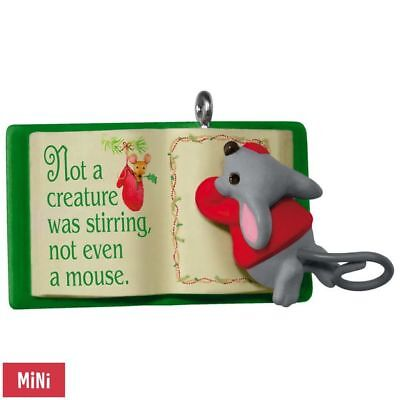 Hallmark 2017 A Creature was Stirring Mouse and Book series  Miniature Ornament