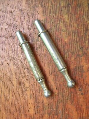 Two Vintage Spring-Loaded Window Sash Locks / Bolts Side-Mortised - Very Clever