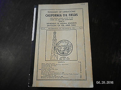 Vintage California Oil Fields Summary Of Operations 1958 And 9 Large Oil Maps