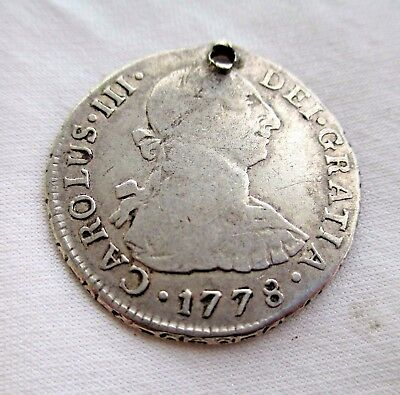 Lima Peru Ef 2 Reales 1778 M I  Weighs 6.61 Grams 903 Silver
