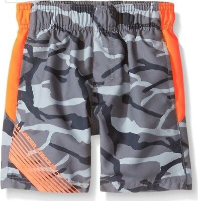 Under Armour Graphite Printed Volley Swim Trunks sz 4T Boys NWT FreeShip