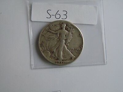 Vintage  Usa  1941 50 Cent Silver    S63