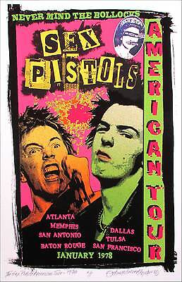 Sex Pistols 1978 American Tour Tribute New Orig Artist Edition Signed David Byrd