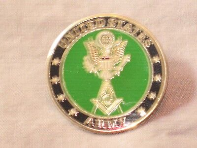 Masonic United States Army Square Compass Tac Pin Fraternity Stars NEW!
