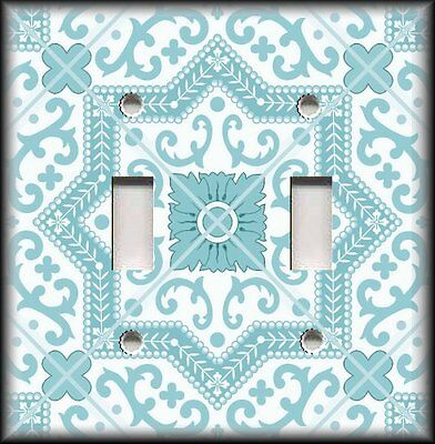 Turquoise Paris Light Switch Plate Cover Various Sizes Offered