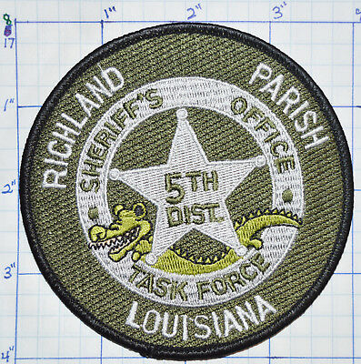 Louisiana, Richland Parish Sheriff's Office Task Force 5Th District Patch