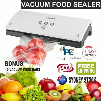 Vacuum Food Sealer Machine Saver Storage Preservation Heat with Free Bags HM AU