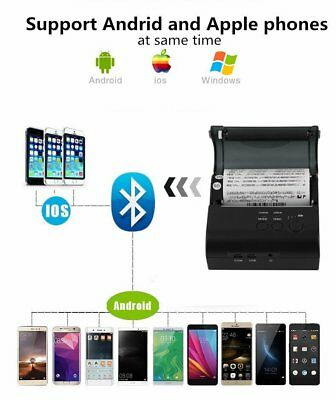 Wireless 58/80 Bluetooth Thermal Receipt Printer Support Android IOS Windows HM