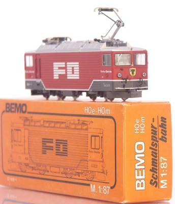 BEMO 1260-202 HOm - SWISS FO FURKA OBERALP TUNNEL RED Ge 4/4 III LOCOMOTIVE 82