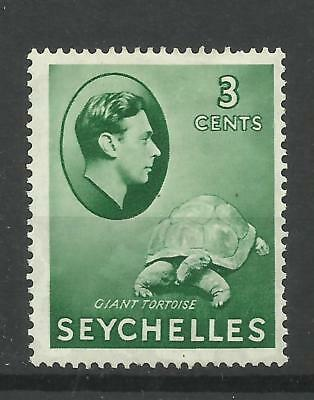 Seychelles 1938 Sg 136, 3c Green, Lightly Mounted Mint [1293]