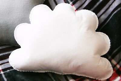 White Cloud Shaped Cushion Plush Pillow Kids Room Decor Baby Nursery Classroom