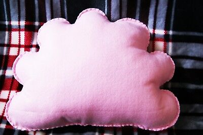 Pastel Pink Cloud Shaped Cushion Plush Pillow Kids Bedroom Baby Nursery Decor