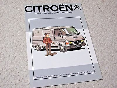 1980 Citroen C35 (Fr) Sales Brochure...