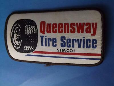 Queensway Tire Simcoe Employee Patch Crest Vintage Collector Ontario Collector