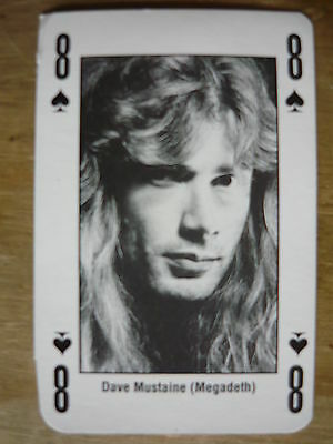 Dave Mustaine (Megadeth) - Kerrang Playing Card