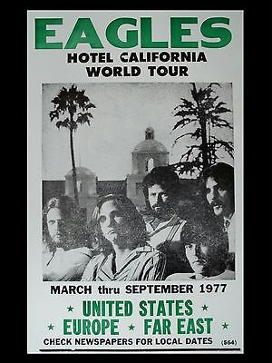 "The Eagles  Hotel California 16"" x 12"" Photo Repro Promo Poster"