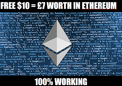 FREE ETHEREUM ETH WORTH $10 (£7) to your Account + BEST VALUE PURCHASE LINK