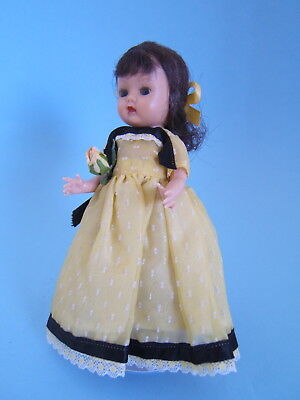 Vintage 1955 NASB MUFFIE Muffy Doll SL Walker in Yellow Formal Gown