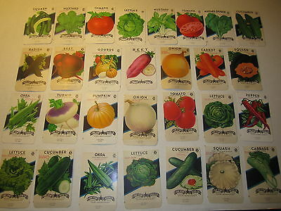 Lot of 29 Old Vintage 1940's-60's - VEGETABLE SEED PACKETS - Lone Star - EMPTY