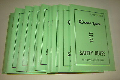 LOT of 10 Old 1979 CHESSIE System RAILROAD Safety Rules BOOKS - Chesapeake Ohio