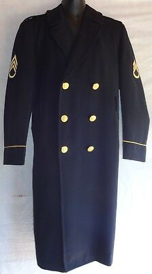US Army Men's Dress Blues Enlisted Honor Guard ASU Service Overcoat